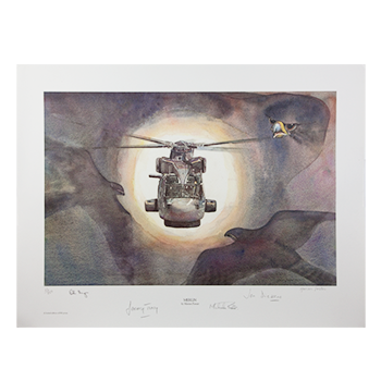 Merlin - Limited Edition Prints 1 - 200 Numbered and signed by the Artist and named Test Pilots.
