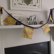 Orange and Purple Bunting